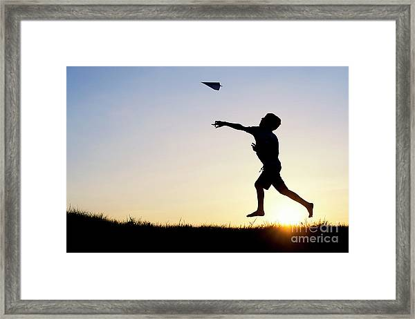 Let It Fly Framed Print by Tim Gainey
