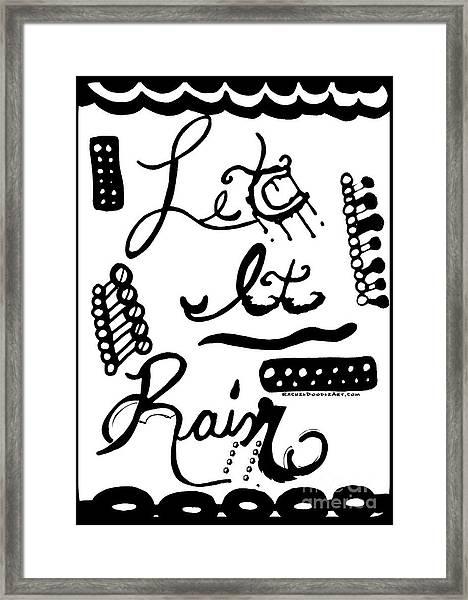 Framed Print featuring the drawing Let It Rain by Rachel Maynard