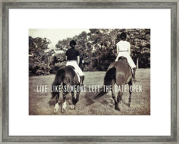 Let 'r Buck Quote Framed Print
