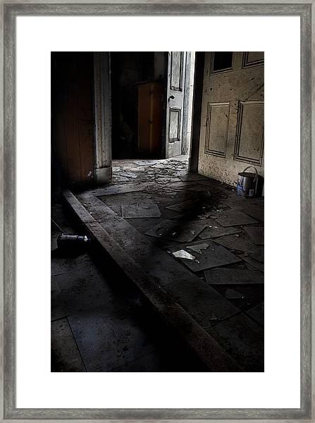 Let The Light In. Framed Print