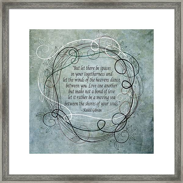 Let There Be Spaces Framed Print