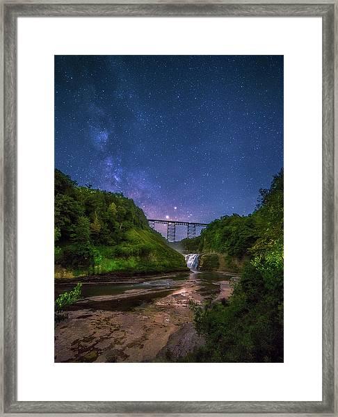 Letchworth At Night Framed Print
