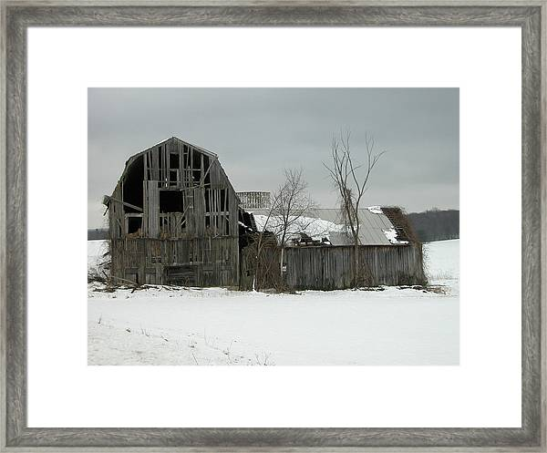 Letchworth Barn 0077b Framed Print