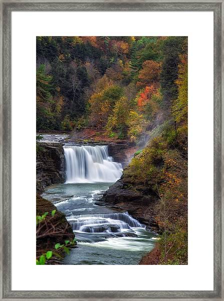 Letchworth Lower Falls 3 Framed Print