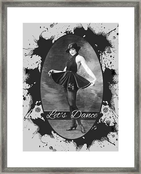 Lets Dance Framed Print