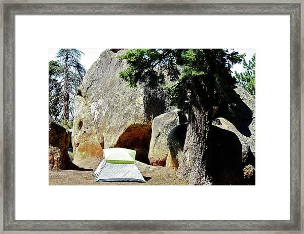 Let's Go Camping Framed Print