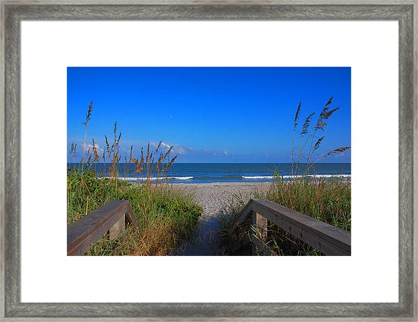 Lets Go To The Beach Framed Print