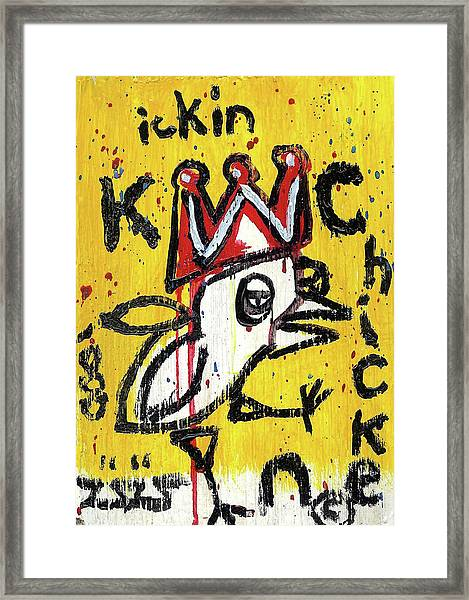 The Kickin Chicken Framed Print