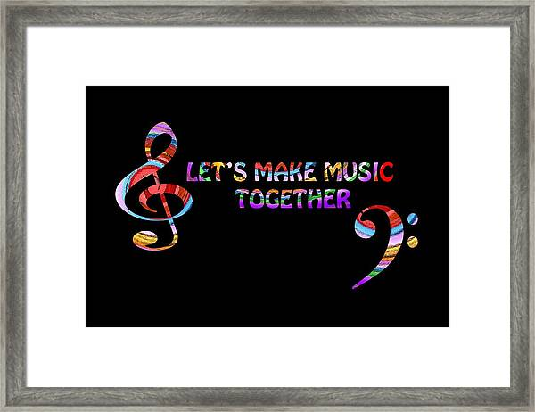 Let's Make Music Together Framed Print