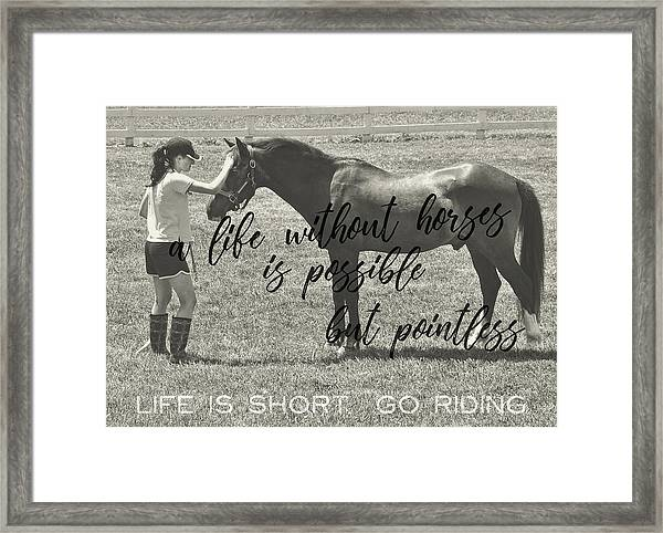Let's Ride Quote Framed Print