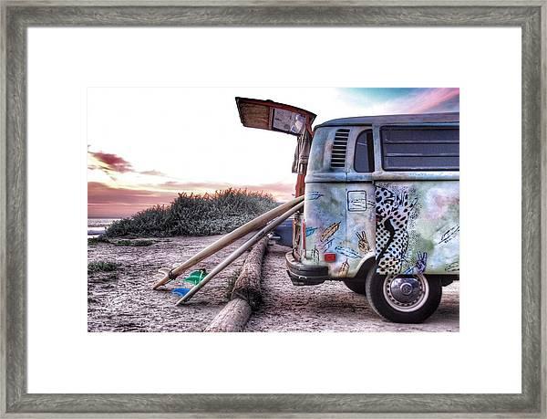 Let's Surf Framed Print