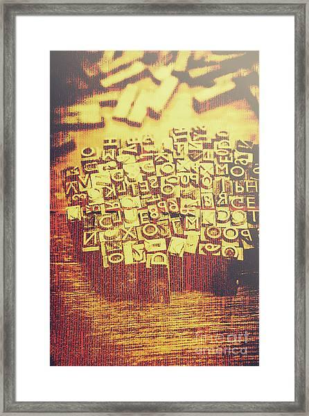 Letterpress Industrial Pop Art Framed Print