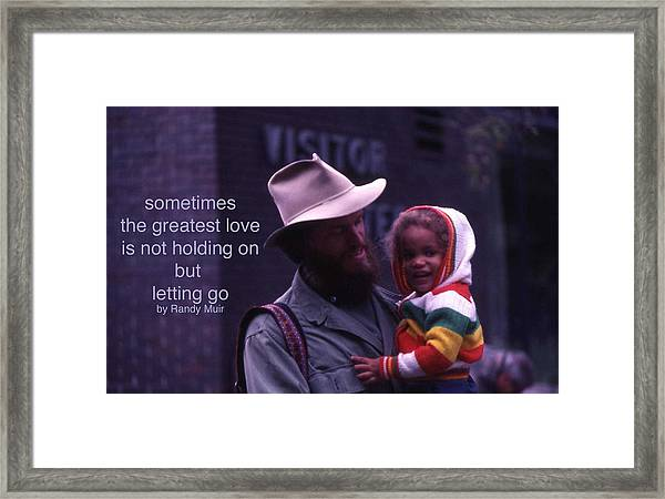 Letting Go Framed Print by Randy Muir