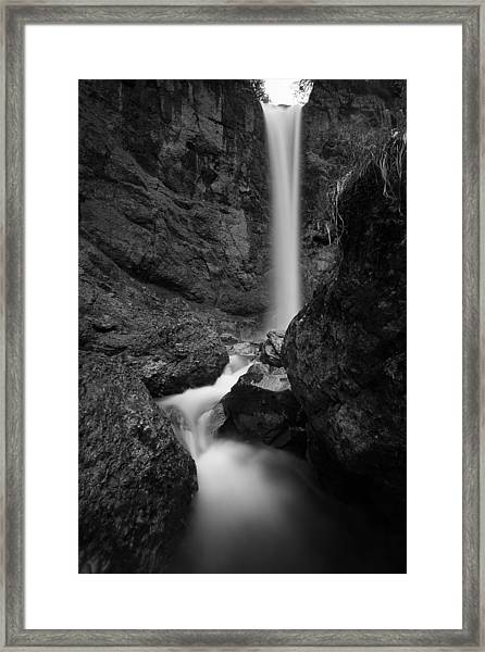 Leuenfall In Black And White Framed Print