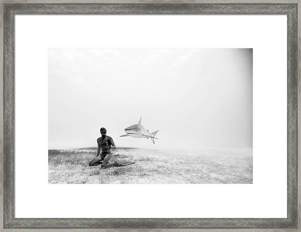 Levitation Framed Print by One ocean One breath