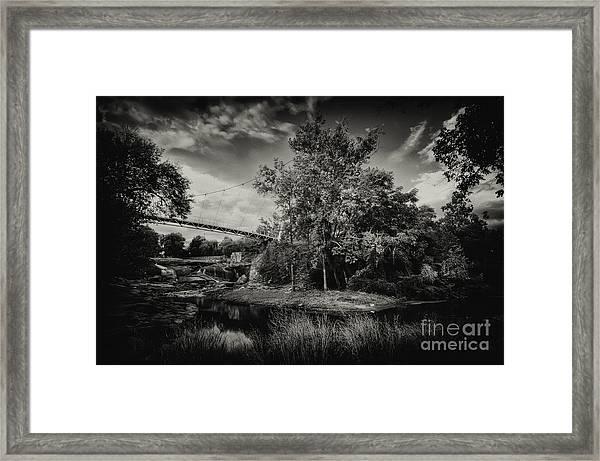Liberty Bridge Greenville Sc Framed Print