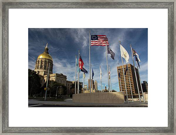 Liberty Plaza Framed Print