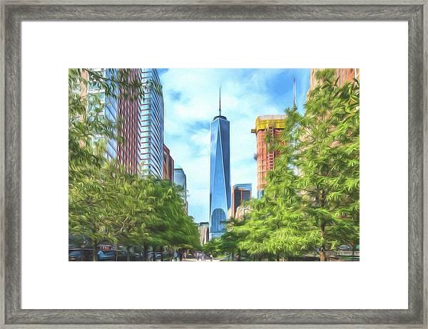 Liberty Tower Framed Print