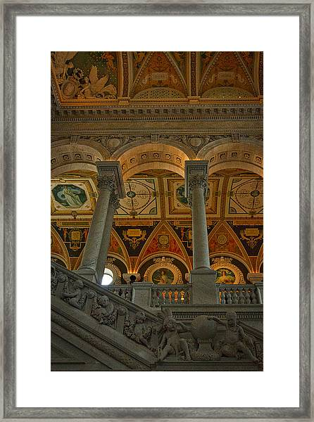 Library Of Congress Staircase Framed Print