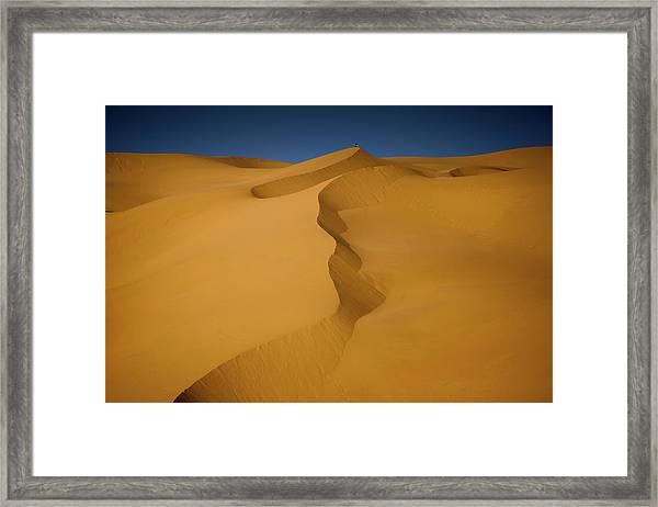 Framed Print featuring the photograph Libya Dunes by Ibrahim Azaga