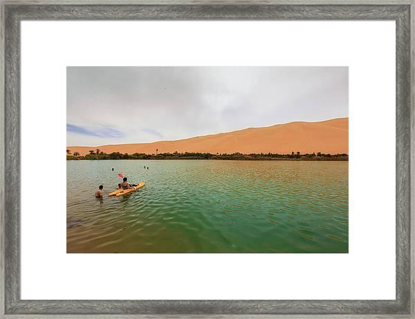 Framed Print featuring the photograph Libyan Oasis by Ibrahim Azaga