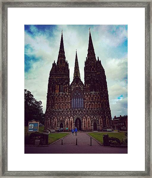 Lichfield Cathedral Framed Print