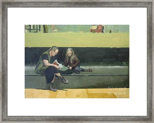 Life At The Metro Framed Print