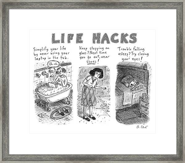 Life Hacks Framed Print