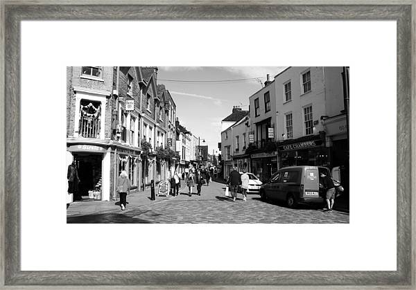 Life In Canterbury Framed Print