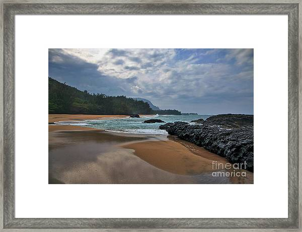 Framed Print featuring the photograph Life Is A Beach And Then You Die? Lumahai Beach, Kauai, Hawaii by Sam Antonio Photography