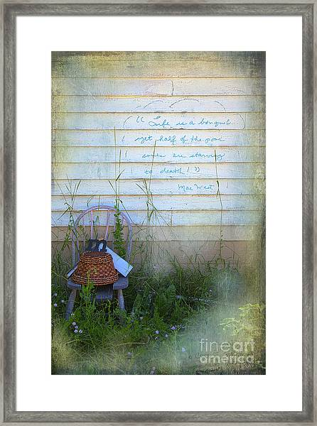 Life Is A Bouquet Framed Print