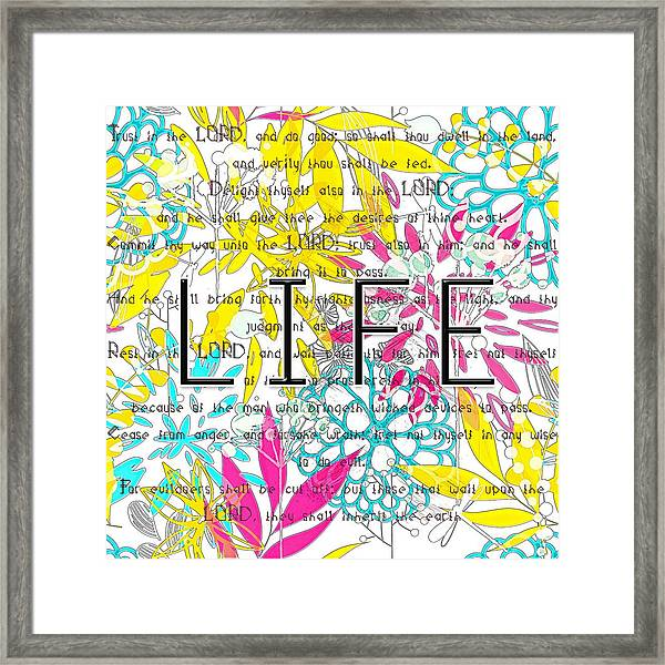 Life Is A Gift Framed Print