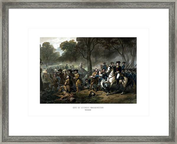Life Of George Washington - The Soldier Framed Print