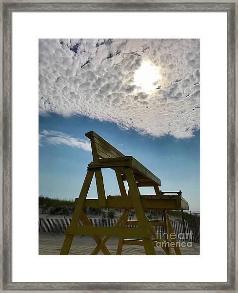 Lifeguard Chair Framed Print