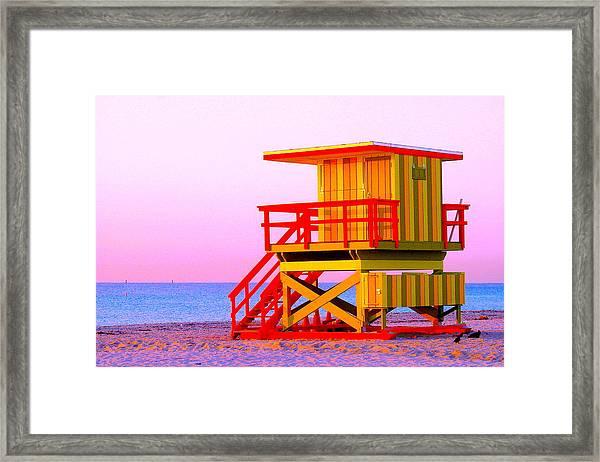 Lifeguard Stand Miami Beach Framed Print