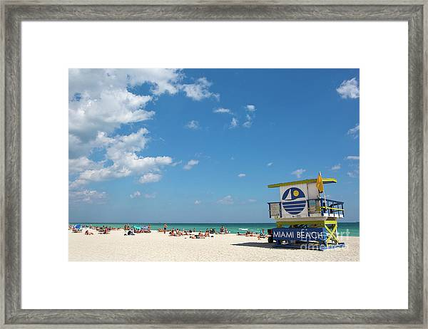 Lifeguard Station Miami Beach Florida Framed Print