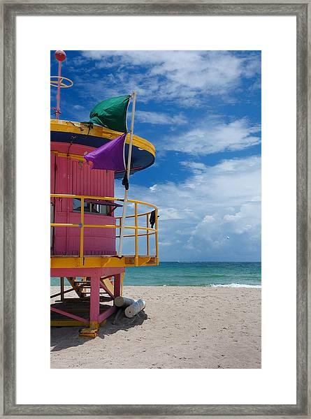 Lifeguard Tower - South Beach - Miami Framed Print