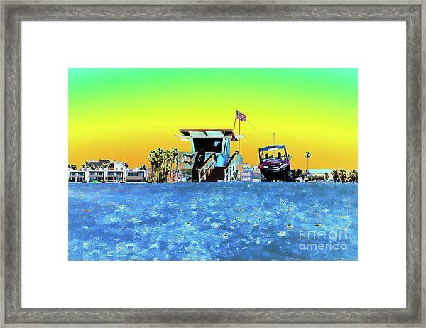 Lifeguard Tower 1 Framed Print
