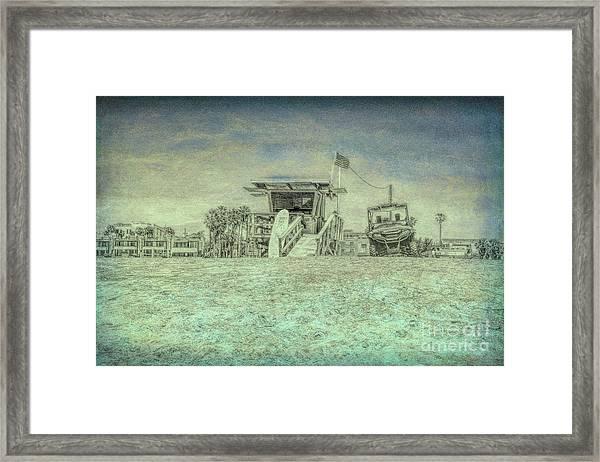 Lifeguard Tower 2 Framed Print