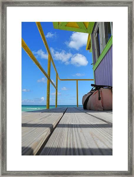 Lifeguard Tower 2.2 - South Beach - Miami Framed Print