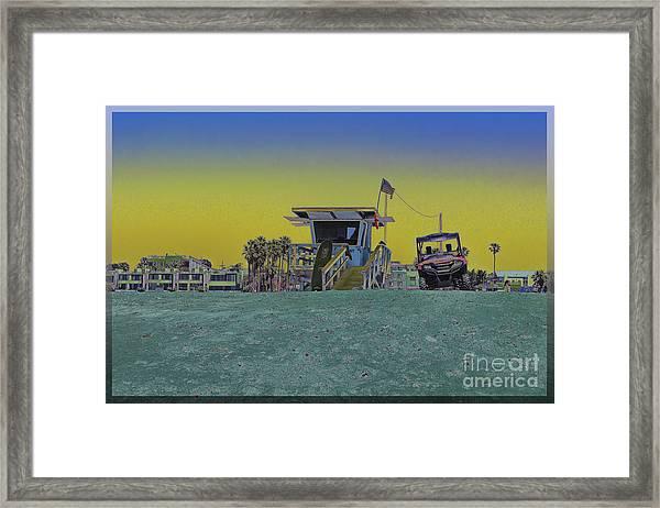 Lifeguard Tower 4 Framed Print