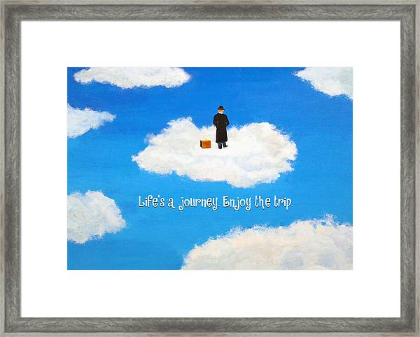 Life's A Journey Greeting Card Framed Print