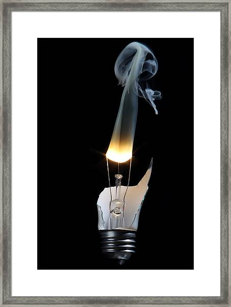 Light And Smoke Framed Print