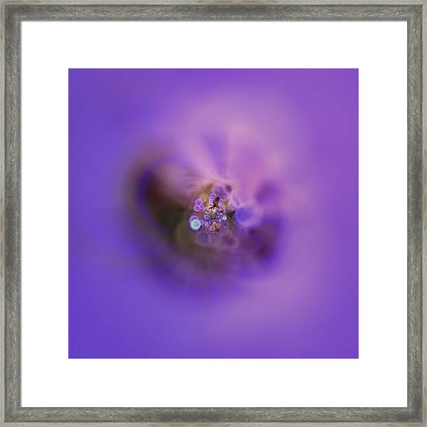 Framed Print featuring the digital art Light And Sound Abstract by Robert Thalmeier