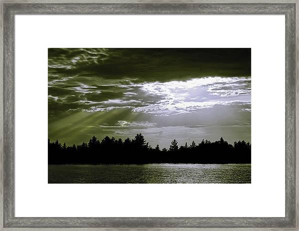 Light Blast In Evening Framed Print