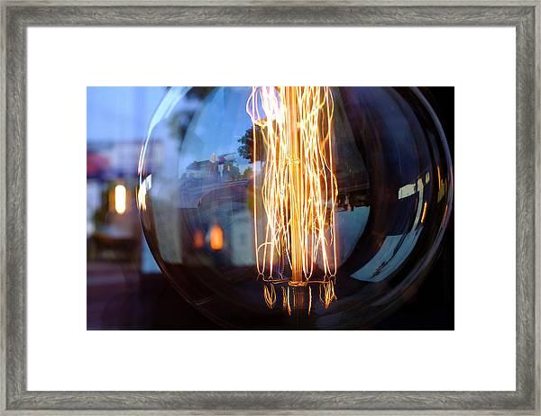 Light Elements Bulb In Detroit Michigan Framed Print