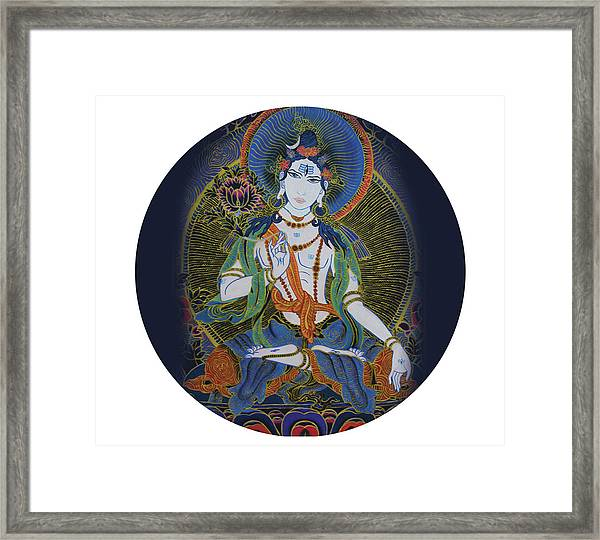 Light Giving Shiva  Framed Print