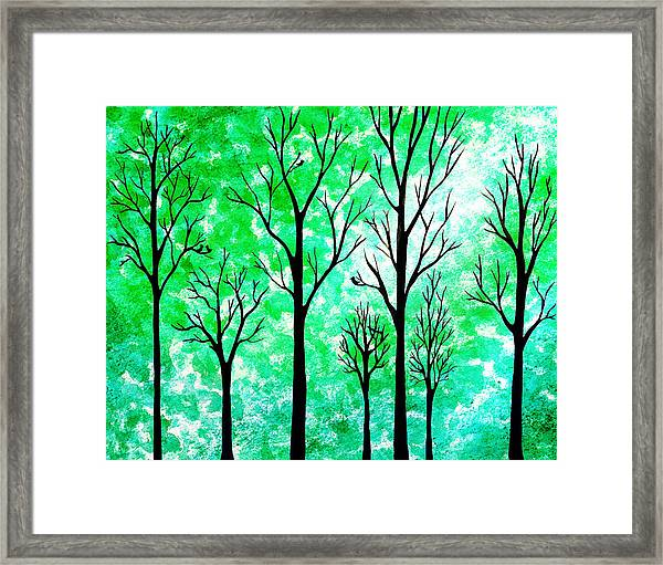 Light In The Woods Abstract Framed Print