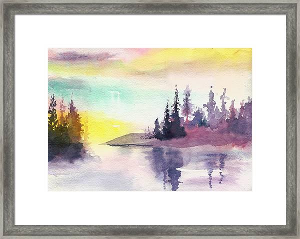 Light N River Framed Print