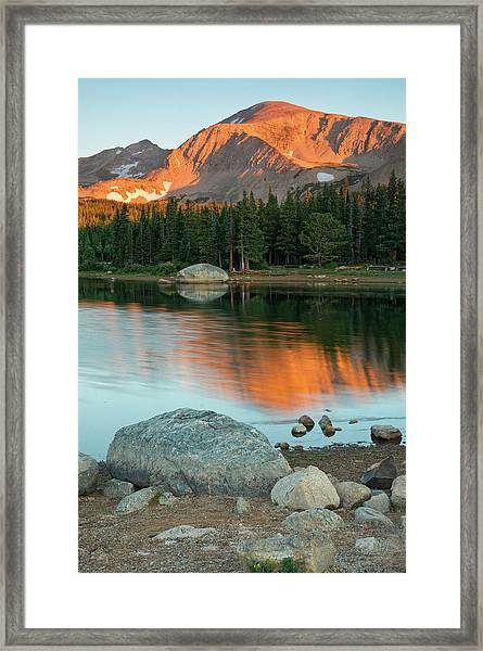 Framed Print featuring the photograph Light Of The Mountain by John De Bord